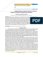 A Review on International Donor Agencies and the Control of Malaria in Nigeria