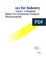 A standard battery for genotoxic testing of Pharmaceuiticals