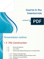 Chapter 3 Pile Construction Sequence