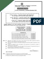 BTech Reg & Supple Nov Dec 2010 Exams All Notifications