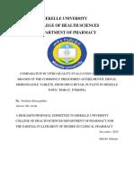 Mekelle University Research on Pharmacy