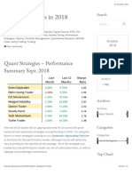 Quant Strategies in 2018