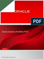 Oracle Systems Portfolio FY19