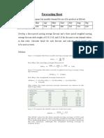 Forecasting Sheet Soltion