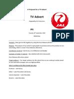 proposal template tv advert