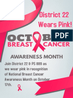 District 22 Wears Pink