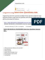 100 BASIC MECHANICAL ENGINEERING Interview Questions Answers PDF BASIC MECHANICAL ENGINEERING Interview Questions Answers PDF.pdf