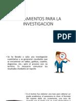 Lineamientos Para La Investigacion