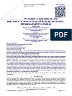 DESIGN PATTERNS IN THE WORKFLOW IMPLEMENTATION OF MARINE RESEARCH GENERAL INFORMATION PLATFORM