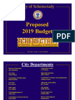 SCHENECTADY 2019 Proposed Budget