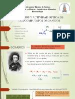 Isomeros y Actividad Optica de Los Compuestos Organicos