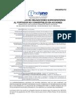 Prospecto NetUno Obligaciones Quirografarias 2018-I