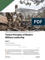 12 Principles of Modern Military Leadership