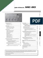 Manual de Usuario de la pedalera Boss ME-80