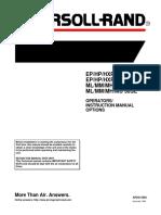 Ingersoll Rand Ep, Hp, Hxp 30 - 40 Se & Ml, Mm, Mh, Mu 22 - 30 Se Operators Manual (Nov 1999)
