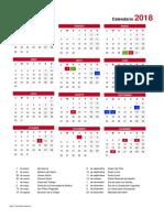 Calendario Escolar Portrait Ciempozuelos 2018