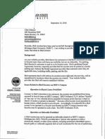 MSU letter to Bird Rides Inc.