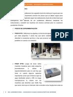Procedimiento y Resultado Bioquimica Parte Del Informe