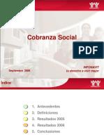 Cobranza Social a Agosto2006