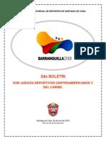 Boletín de Los XXIII Juegos Centroamericanos y Del Caribe