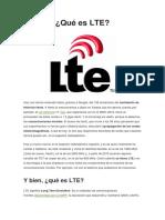 Telefonia Qué Es LTE