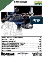 Assembling An AR-15 Rifle Parts Checklist