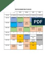 HORARIO 4A 2018-2019