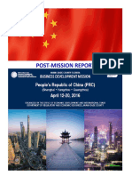 End of Mission Report - China (April 12 - 20, 2016)