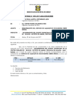 INFORME N°01 RESIDENTE - ALQUILER DE MAQUINARIA 1