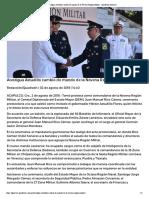 02-08-2018 Atestigua Astudillo cambio de mando de la Novena Región Militar.