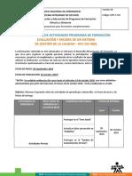 Cronograma de Actividades MEJORA ISO 9001 28-09-2018