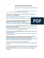 DESARROLLO REGIONAL Y DESCENTRALIZACIÓN
