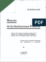 Historia de Las Instituciones Políticas - Herrou Aragón, José Ma.