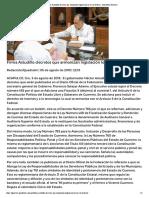 05-08-2018 Firma Astudillo decretos que armonizan legislación local con federal.