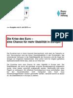 Die Krise des Euro - eine Chance für mehr Stabilität in Europa