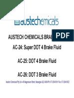 Brake Fluid Standards