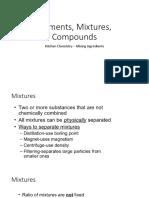 Elements, Mixtures, Compounds