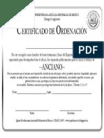 Certificado de Anciano de Iglesia