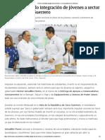 14-08-2018 Destaca Astudillo integración de jóvenes a sector productivo en Guerrero.
