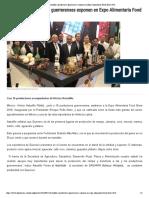 15-08-2018 Astudillo y Productores Guerrerenses Exponen en Expo Alimentaria Food Show 2018.