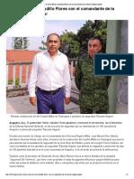 17-08-2018 Se reúne Héctor Astudillo Flores con elcomandante de la Novena Región Militar.