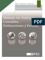10 - Políticas Contables, Estimaciones y Errores