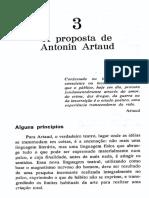 Aprendizagem Do Ator. Antônio Januzelli, Janô. a Proposta de Antonin Artaud.