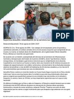 19-08-2018 Supervisa Astudillo rehabilitación de la carretera Las Cruces-Garita.