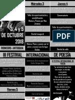 III Festival Internacional de Poesía de Rionegro