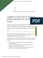 BD2 4 Artigo 5 Devmedia Joel Rodrigues Triggers No SQL Server LEITURA TRIGGERS