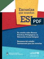 EDU UNICEF Escuelas Que Enseñan ESI Buenas Practicas en ESI 0