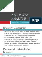 ABC & Xyz Analysis