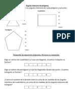 Cálculo de ángulos interiores de polígonos desafío 7º