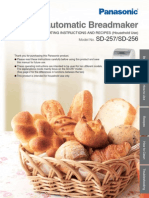 Panasonic SD 257 Bread Maker User Manual